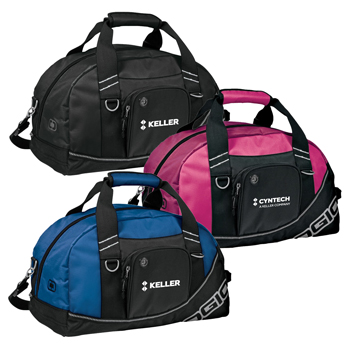OGIO<sup>®</sup> Half Dome Duffel - Sized to fit the gym locker, this duffel opens wide to reveal a roomy interior that holds shoes and a change of clothes.
