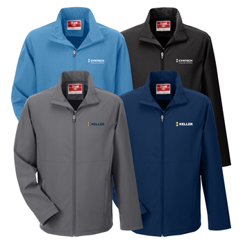 Team 365 Men's Leader Soft Shell Jacket - Soft shell jacket made from 8.8 oz., 94% polyester, 6% spandex.