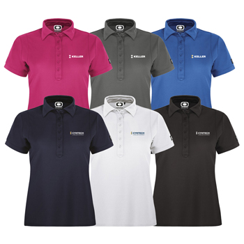 OGIO<sup>®</sup> Jewel Ladies' Polo - Impeccably designed for women everywhere, the Jewel has a contoured fit and streamlined style.