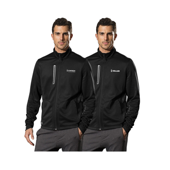 OGIO<sup>®</sup> Endurance Men's Fulcrum Full Zip - Full zipper jacket with reflective OGIO Endurance heat transfer label for tag-free comfort.