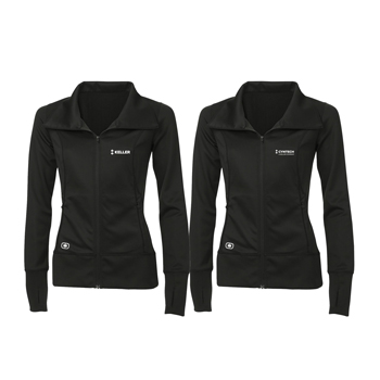 OGIO<sup>®</sup> Endurance Ladies' Fulcrum Full Zip - Full zipper jacket with reflective OGIO Endurance heat transfer label for tag-free comfort.