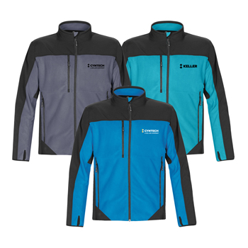 Men's Hybrid Fleece Softshell - The superior comfort of polar fleece combined with optimal cold weather protection and durability of softshell fabric, makes this two-tone, D/W/R finished hybrid softshell fleece jacket easy to wear inside or outside.