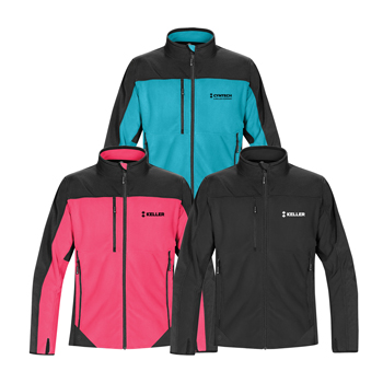 Women's Hybrid Fleece Softshell - The superior comfort of polar fleece combined with optimal cold weather protection and durability of softshell fabric, makes this two-tone, D/W/R finished hybrid softshell fleece jacket easy to wear inside or outside.