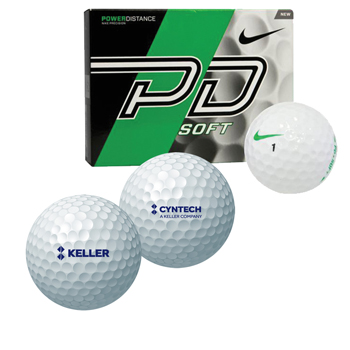 Nike Golf PD Soft - Box of 12 Balls - The Nike Power Distance Soft Golf Ball has a lower-compression core and softened ionomer cover to provide longer distance with added feel.