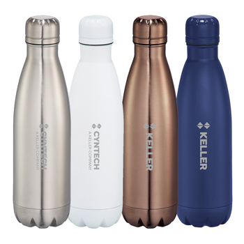 Copper Vacuum Insulated Bottle 17oz - Bottle is double wall 18/8 grade stainless steel with vacuum insulation.