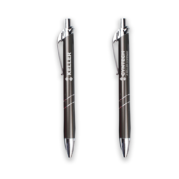 Atlanta Metal Pen - The Atlanta is a click action retractable metal pen with a modern design.